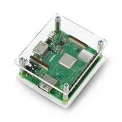 Obudowa Raspberry Pi 3 Model A+ przeźroczysta otwarta