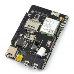 A-GSM Shield GSM/GPRS/SMS/DTMF v2.064 - do Arduino i Raspberry Pi -  wersja z wlutowanymi złączami