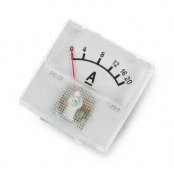 Amperomierz analogowy - panelowy 91C16 mini - 20A