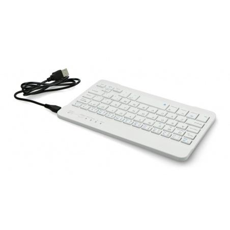 Klawiatura bezprzewodowa Bluetooth 3.0 - biała - 7 cali