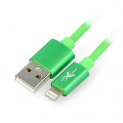 Przewód silikonowy eXtreme USB A - Lightning do iPhone/iPad/iPod 1,5m zielony