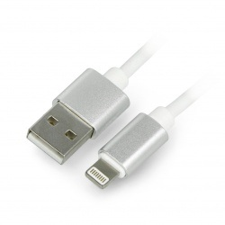 Przewód silikonowy USB A - Lightning do iPhone / iPad / iPod - 1m