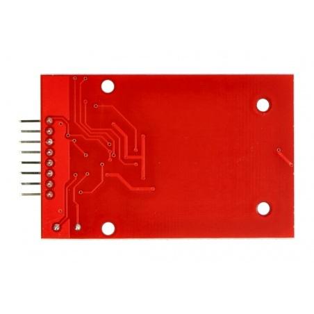 Moduł RFID RC522 13,56MHz SPI + karta i brelok - czerwony