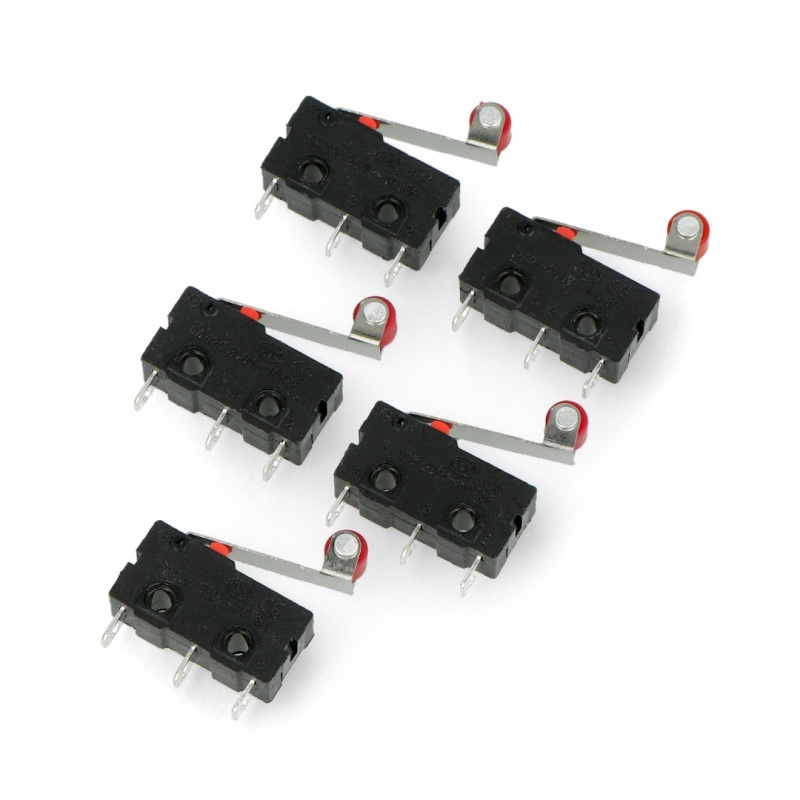 Wyłącznik czujnik krańcowy mini z rolką - WK625 - 5szt.