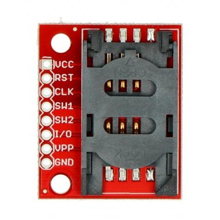 SIM Card Socket - moduł z gniazdem na kartę SIM - SparkFun BOB-00573