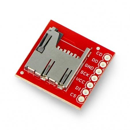 Moduł czytnika kart microSD - SparkFun BOB-00544