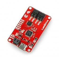 LumiDrive - sterownik USB do pasków i taśm LED APA102 - SparkFun DEV-14779