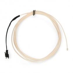 EL Wire - Przewód elektroluminescencyjny 2,5m - biały