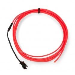 EL Wire - Przewód elektroluminescencyjny 2,5m - różowy