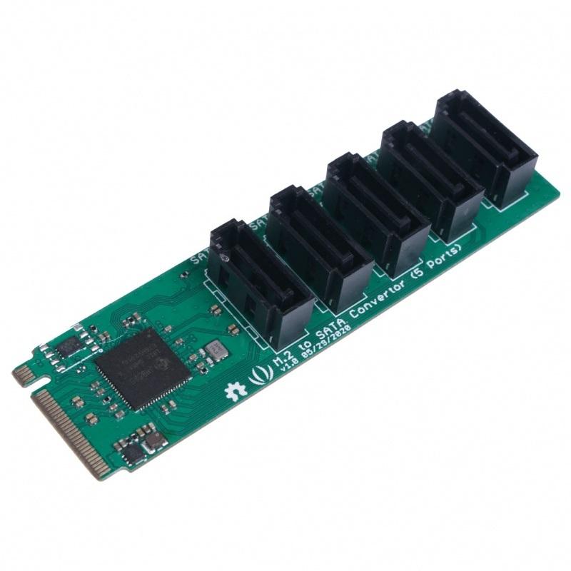 Konwerter PCIe 3.0x2 M.2 NGFF Key B na SATA 3.0 6 Gb/s - 5