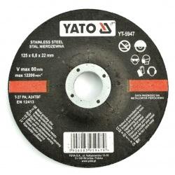 Tarcza do szlifowania stali nierdzewnej Yato YT-5947 - wypukła - 125x6,8mm