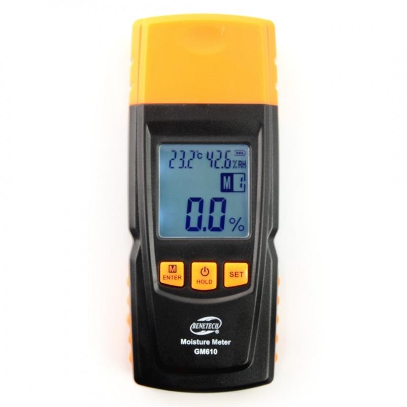 Miernik wilgotności i temperatury opału / tynku Benetech GM610