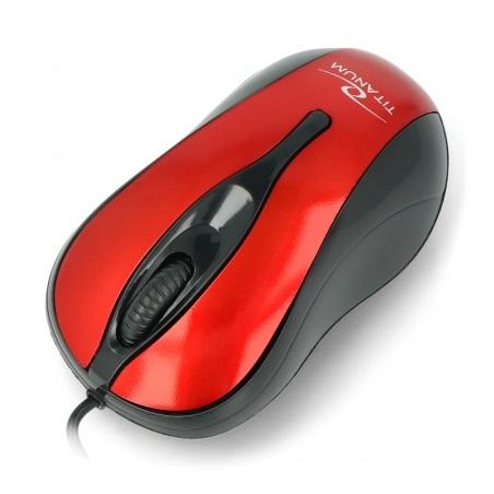Mysz optyczna Esperanza TM-103R czerwona USB Hornet Titanium