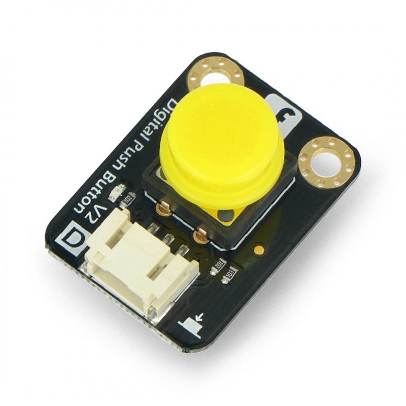 DFRobot Gravity - cyfrowy przycisk Tact Switch - żółty