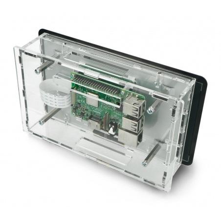 Obudowa do Raspberry Pi i dedykowanego ekranu dotykowego 7'' - przezroczysta