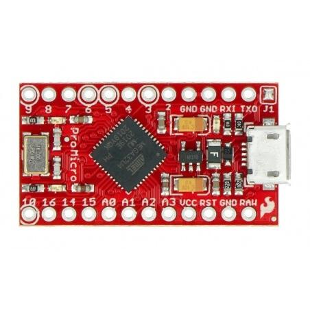 Pro Micro - 5V/16MHz - Atmega32u4 - SparkFun DEV-12640
