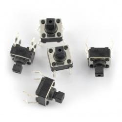 Tact Switch 6x6mm / 7mm THT - 5szt.