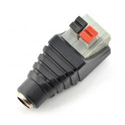 Gniazdo DC 5.5x2.1mm z szybkozłączem i przyciskami