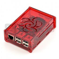 Obudowa Raspberry Pi Model 3B+/3B/2B Flower - przezroczysta