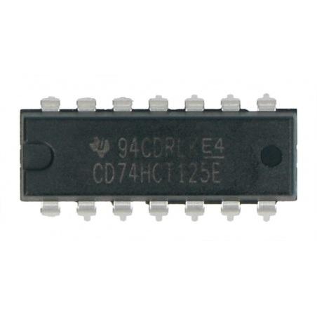 Układ logiczny CD74HCT125E - sterownik linii - 4 kanały