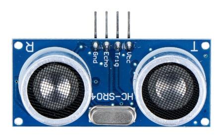 Ultradźwiękowy czujnik odległości HC-SR04 2-200cm.