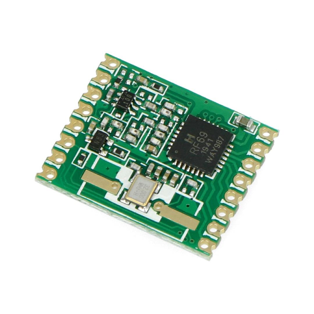 Moduł radiowy - RFM69HW-868S 868MHz - transceiver SMD