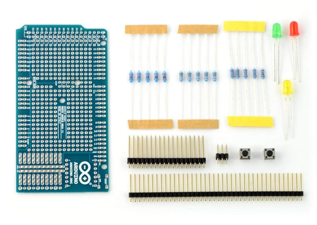 Mega Proto Shield Rev3 Kit - A000081 - zestaw prototypowy dla Arduino