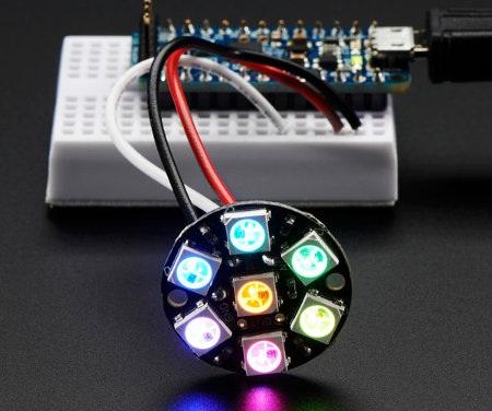 Adafruit NeoPixel Ring - pierścień LED RGB 7 x WS2812 5050