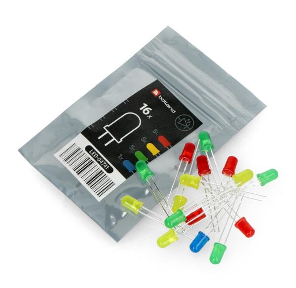 Zestaw diod LED 5 mm