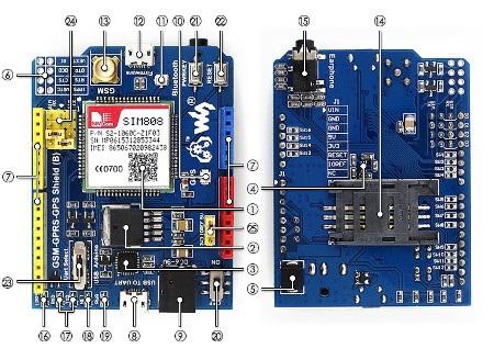GPS/GPRS/GSM Shield dla Arduino - schemat