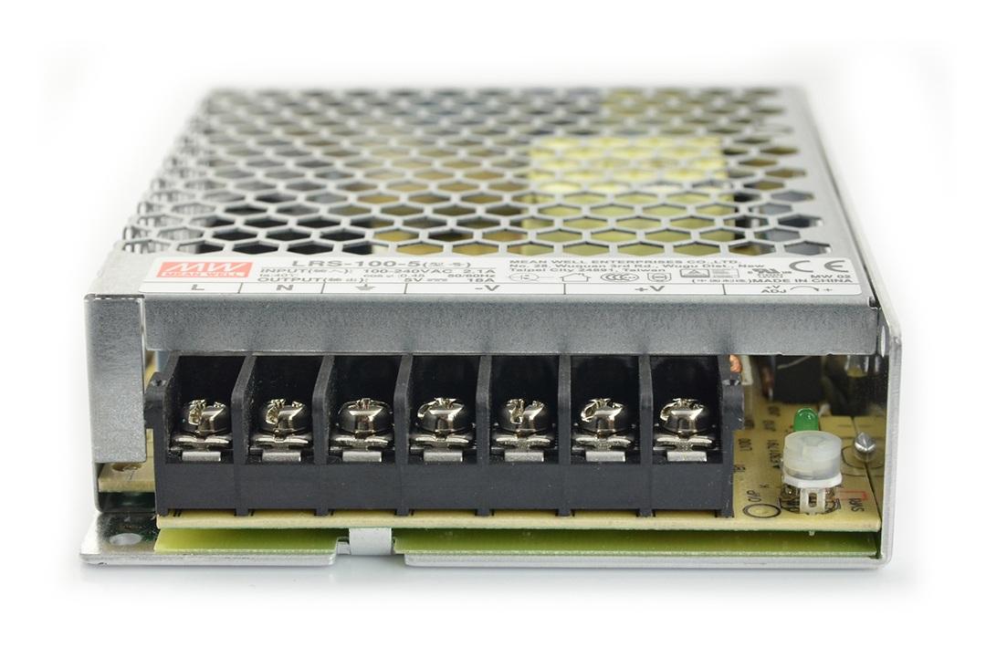 Zasilacz montażowy Mean Well LRS-100-5 - 5V / 18A / 90W