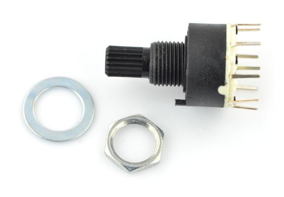 Przełącznik obrotowy 3-pozycje 2 obwody - 30mm
