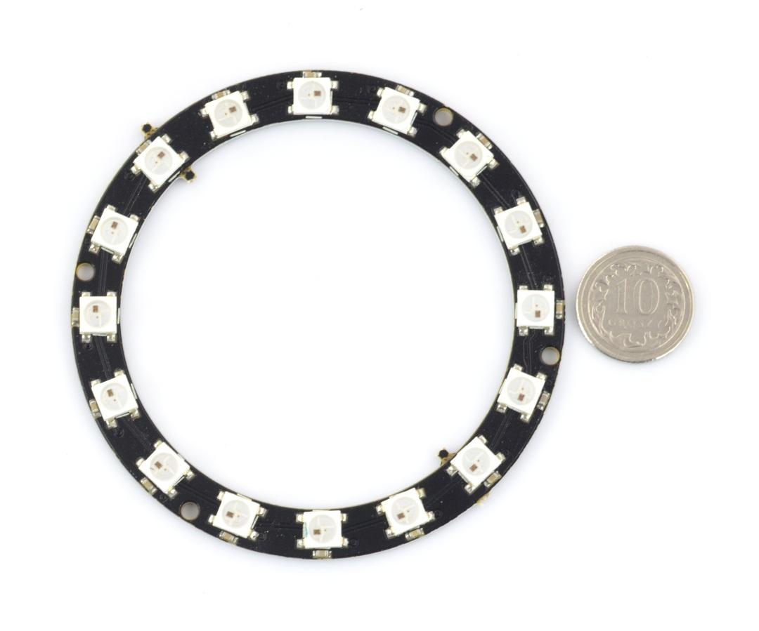Pierścień LED RGB WS2812B 5050 x 16 diod - 68mm