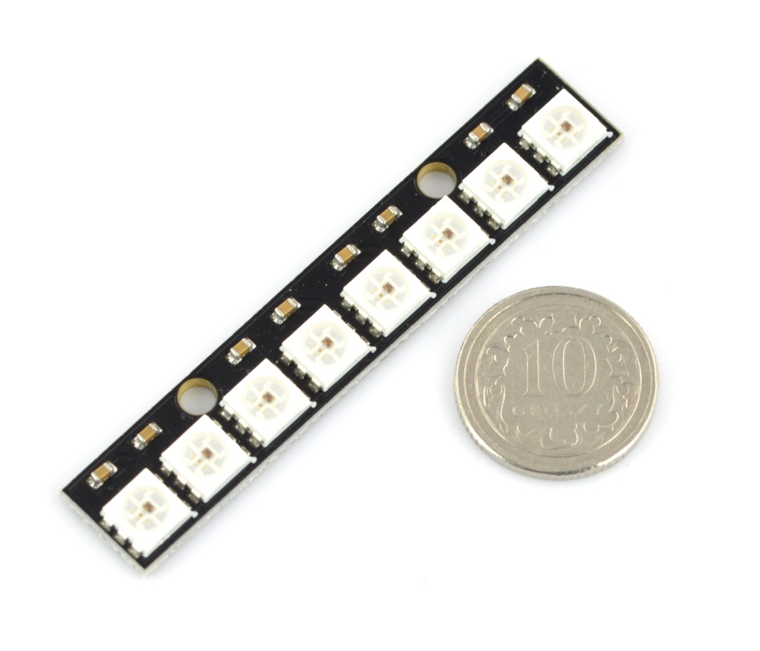 Listwa LED RGB WS2812 5050 x 8 diod - 53mm