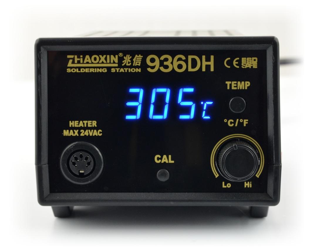 Grotowa stacja lutowniczaZhaoxin 936DH  wyposażona w wyświetlacz LED.