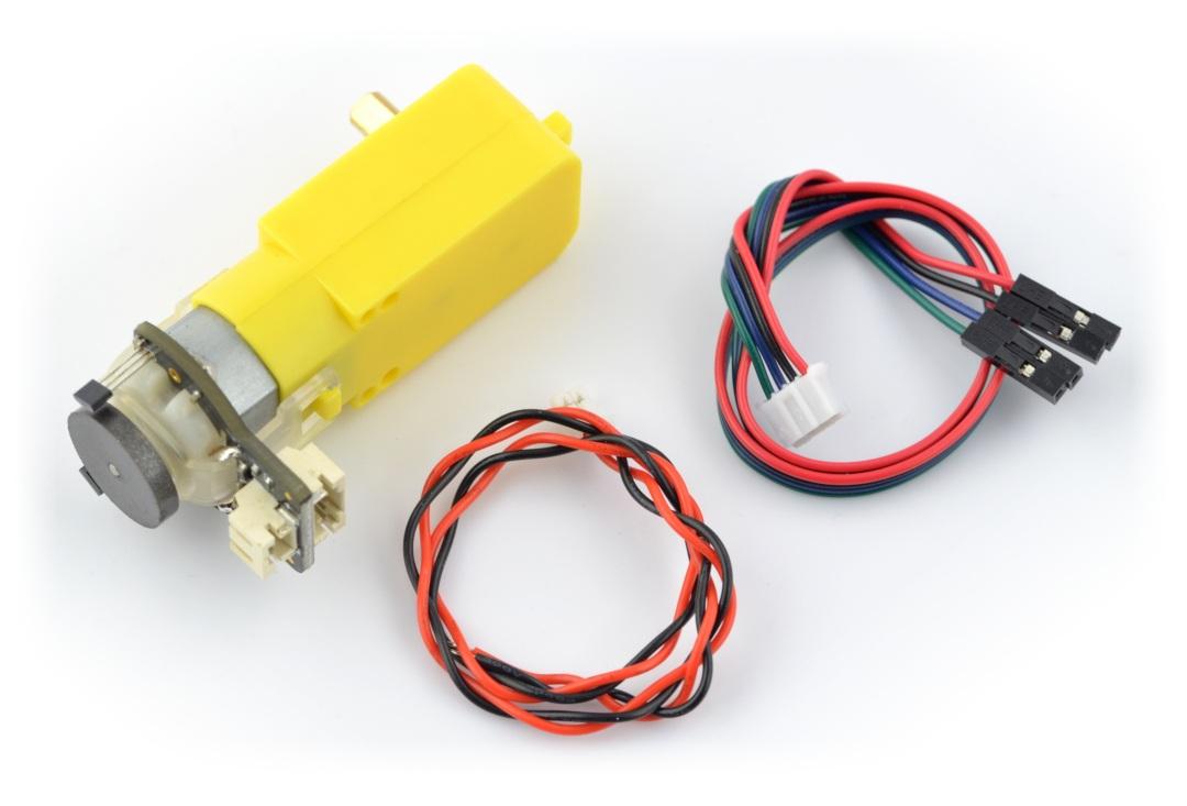 Silnik z przekładnią SJ01 120:1 6V 160RPM + enkoder