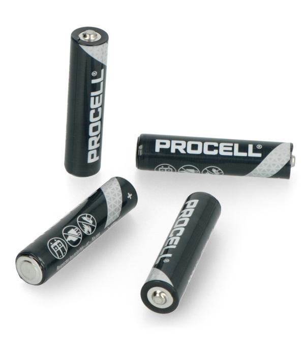 Bateria AAA alkaliczna (R3 LR03) Duracell Procell - 10szt.