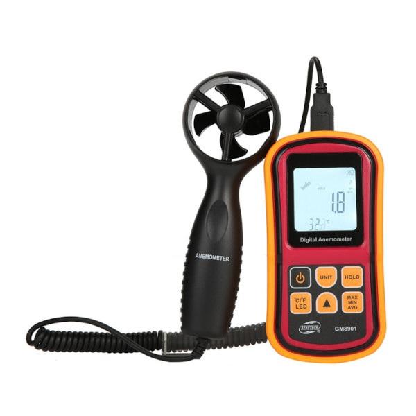 Anemometr / wiatromierz Benetech GM8901 - wirnik 4-ramienny