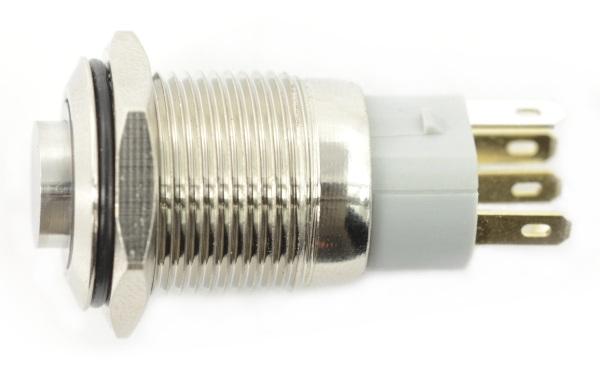 Przełącznik ON-OFF monostabilny -PBW-16BP - 2A 250V - wystający zielony okrągły