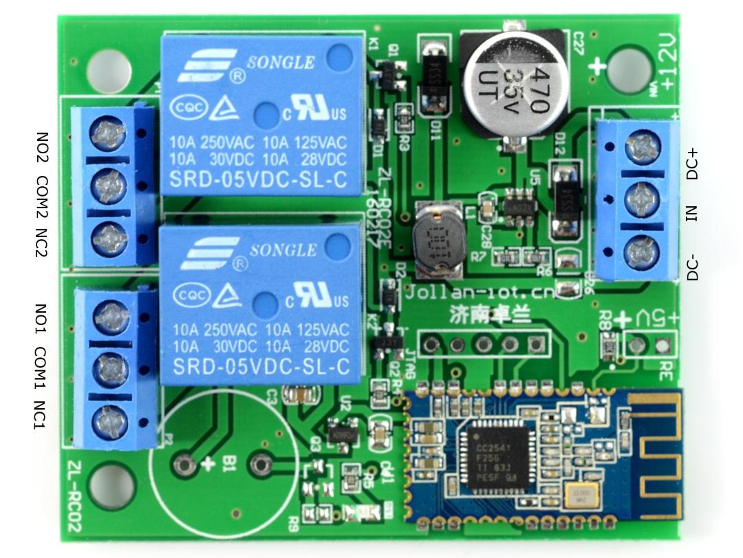 Moduł przekaźników 2 kanały + Bluetooth 4.0