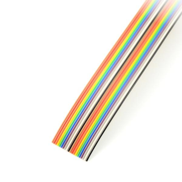 Przewód taśmowy 20 żył kolorowy IDC raster 1,27 mm - rolka 30,5m