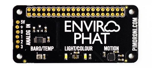 Enviro pHAT - nakładka z czterema czujnikami