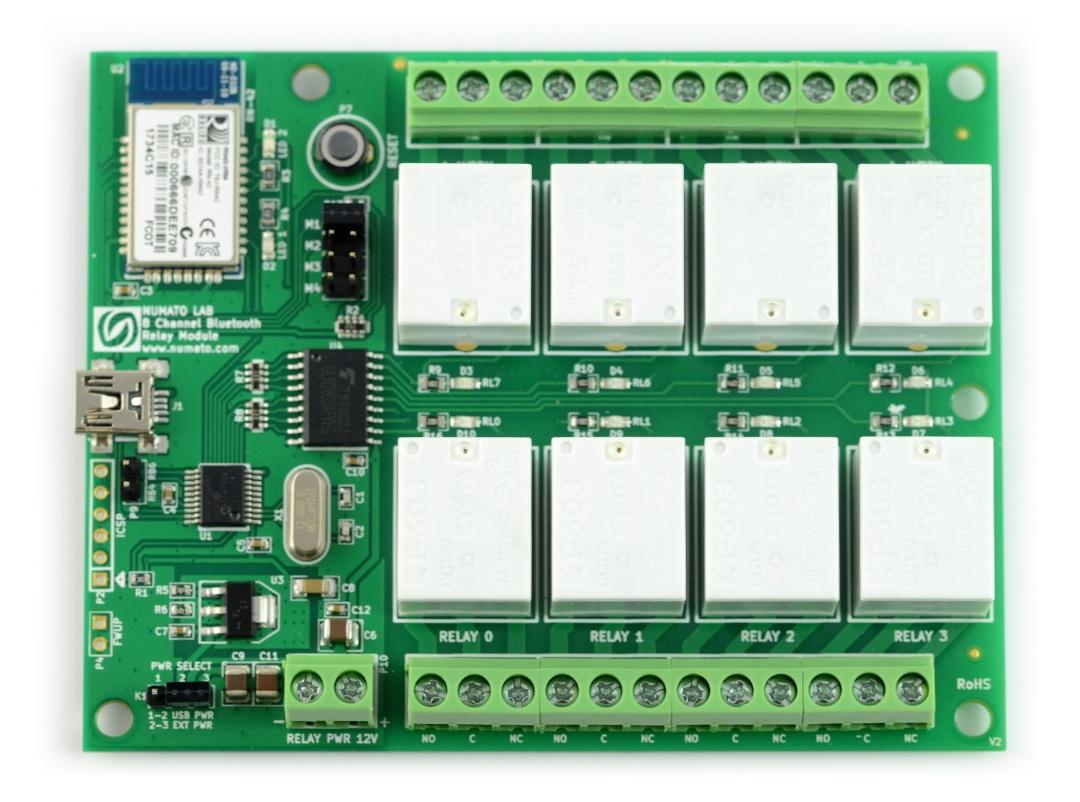 Numato Lab - 8-kanałowy moduł przekaźników - Bluetooth