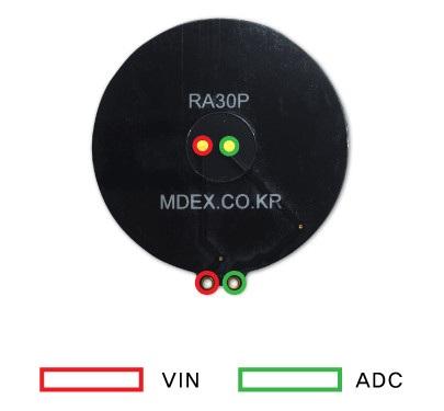 Wyprowadzenia czujnika RA30P