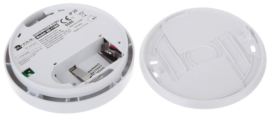 El Home SD-11B8 - fotooptyczny czujnik dymu 9V