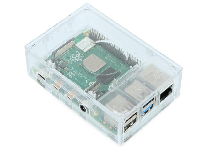 Obudowa doRpi 4B Multicomp Pro - przeźroczysta