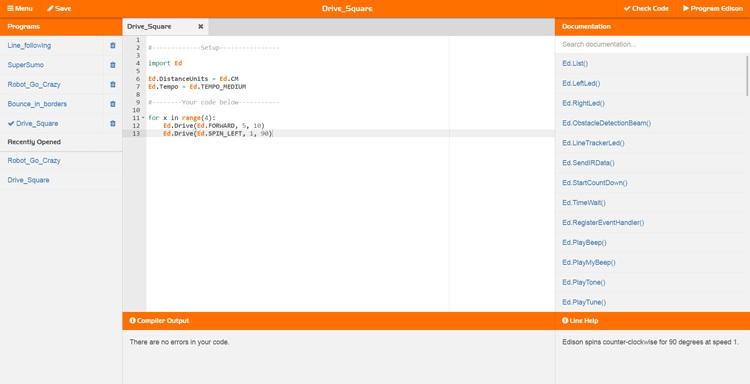 Programowanie z wykorzystaniem aplikacji EdPy