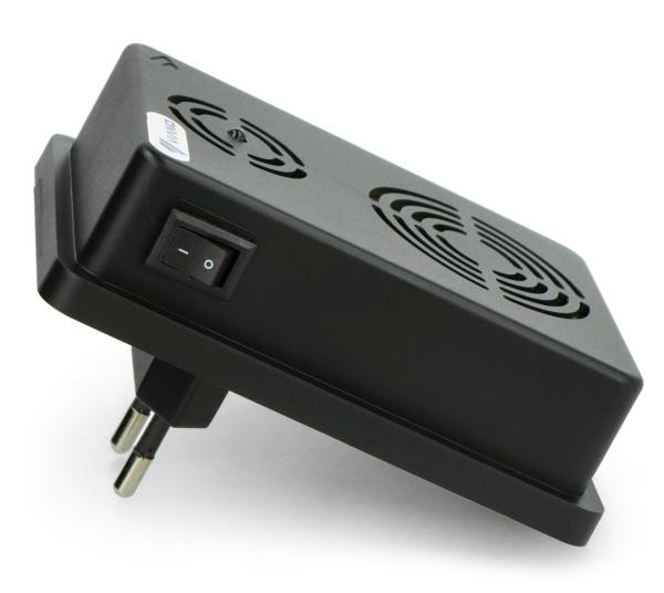 Odstraszacz jest bardzo energooszczędny, urządzenie może działać 24/7h bez obaw o znaczący wzrost rachunków za energię elektryczną.