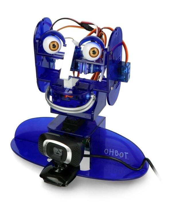 Kamera zamontowana u podstawy robota Ohbot