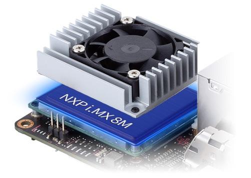 Procesor NXP chłodzony radiatorem z wentylatorem